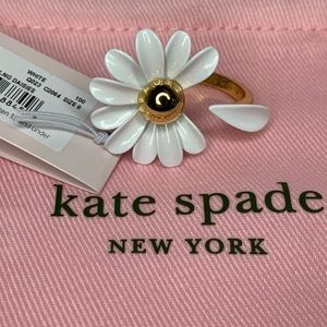 Kate Spade 12 KT Plated Daisy Size 8 Flower Ring